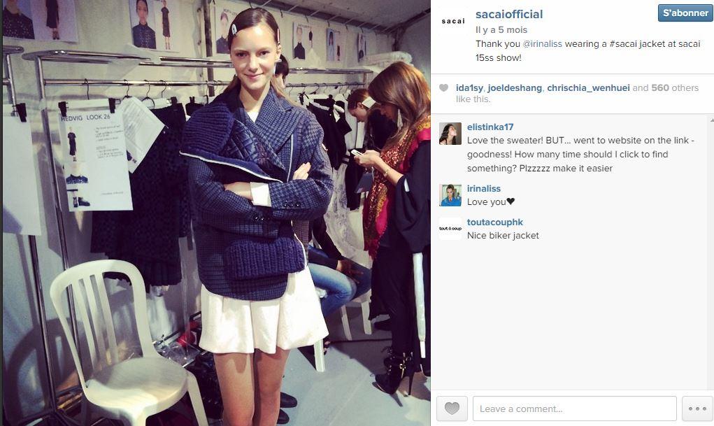 Sacai les 101 comptes instagram suivre pendant la fashion week elle - Qui suivre sur instagram ...