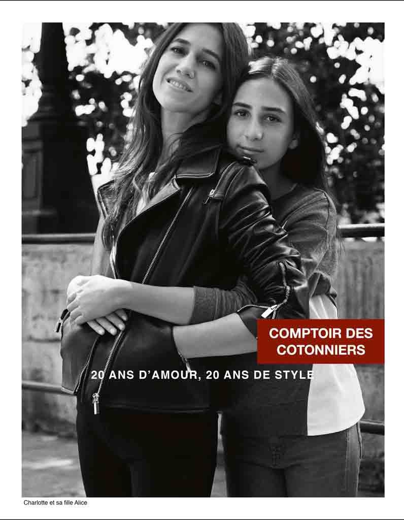 Charlotte gainsbourg et sa fille alice pour comptoir des - Comptoir des cotonniers mere et fille ...