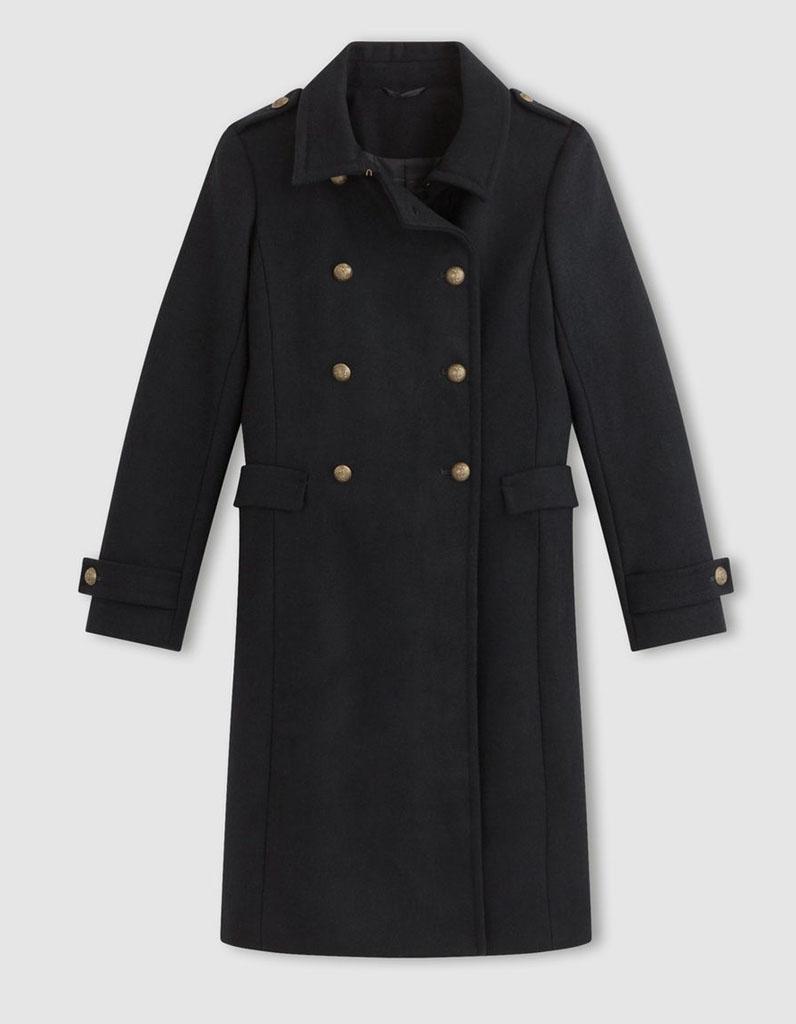 manteau officier femme 14 manteaux officier pour un hiver styl elle. Black Bedroom Furniture Sets. Home Design Ideas