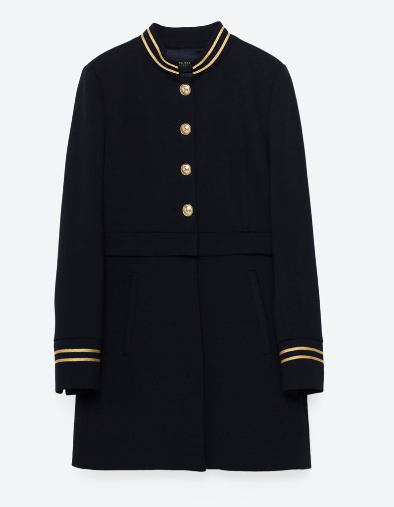 manteau officier zara 14 manteaux officier pour un hiver styl elle. Black Bedroom Furniture Sets. Home Design Ideas