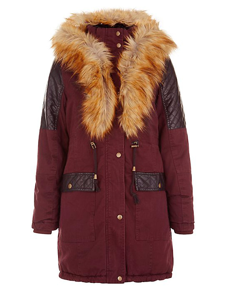parka bordeaux new look 20 jolies parkas qui nous prot gent du froid elle. Black Bedroom Furniture Sets. Home Design Ideas