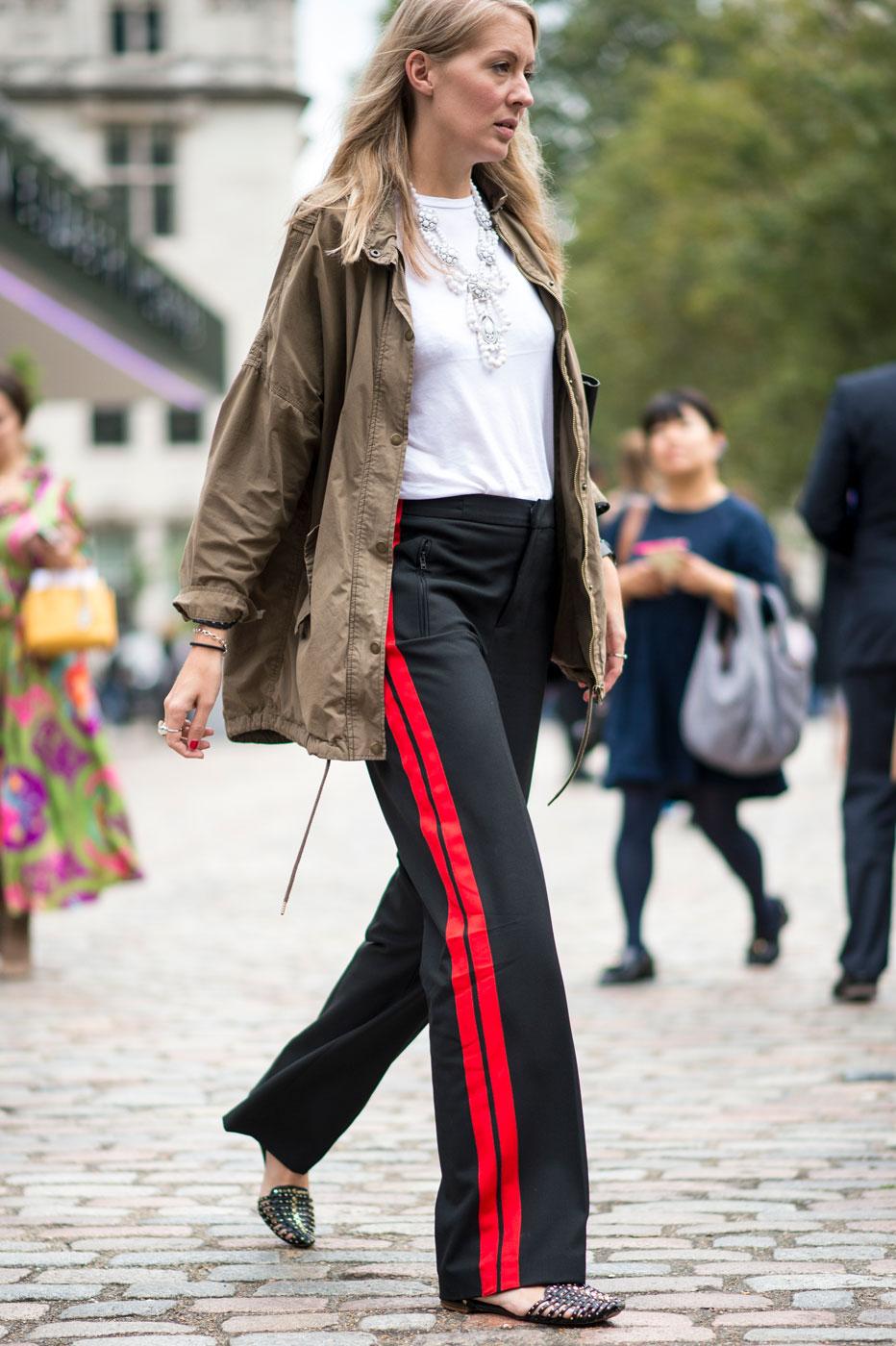 Le Pantalon Bandes Les 15 Tendances Mode Incontournables De L 39 Hiver 2017 Elle