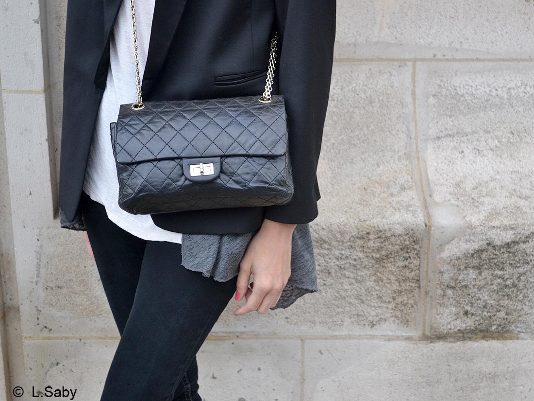 sac chanel jeanne le bault street style la r dac du elle en jean elle. Black Bedroom Furniture Sets. Home Design Ideas