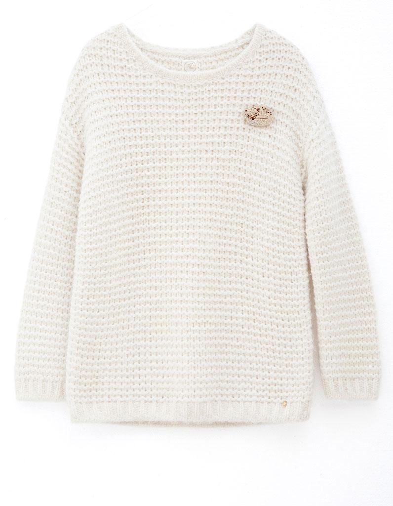 pull en laine blanc des petits hauts 30 pulls en laine pour tre au chaud tout l hiver elle. Black Bedroom Furniture Sets. Home Design Ideas
