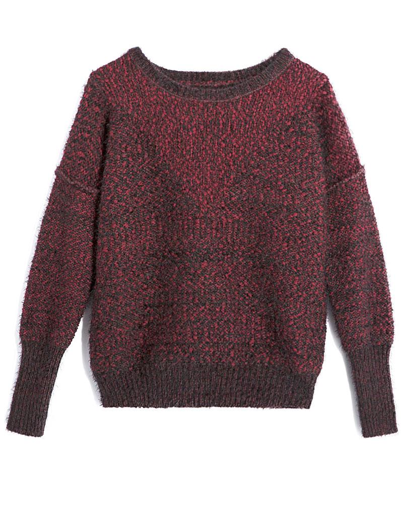 pull en laine bordeaux ikks 30 pulls en laine pour tre au chaud tout l hiver elle. Black Bedroom Furniture Sets. Home Design Ideas