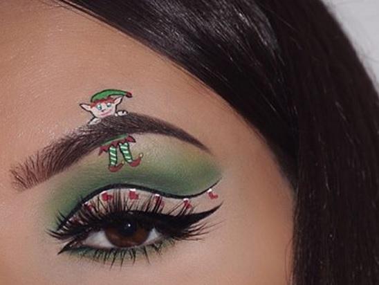 Maquillage des yeux avec un lutin de no l 10 id es for Decoration yeux