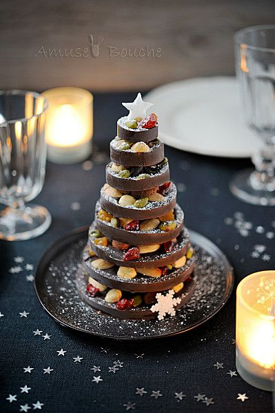 Sapin gourmand de no l mendiants des sapins de no l gourmands elle - Sapin de noel de table ...