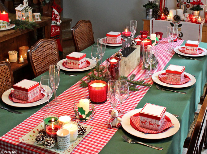 D coration de table de no l nos id es pour une centre de - Idee de decoration de table de noel ...