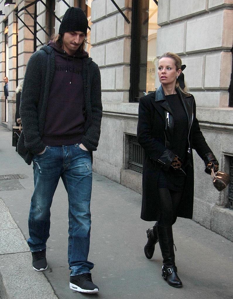 Zlatan Ibrahimovic et Helena Seger