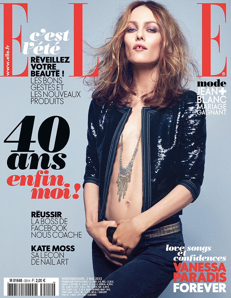 Vanessa Paradis pose en couv' de ELLE - Elle ванесса парадис