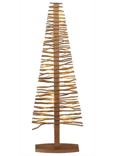 Sapin en bois dor blach re 10 sapins alternatifs elle for Sapin deco en bois