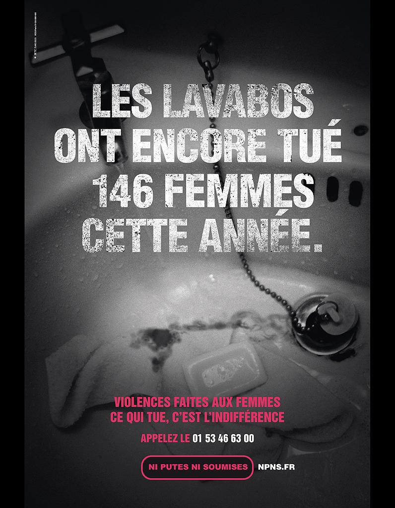 les lavabos ont encore tu 146 femmes cette ann e 72 affiches pour d noncer les violences. Black Bedroom Furniture Sets. Home Design Ideas