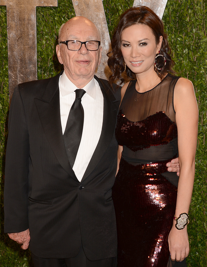 Rupert Murdoch and his atctually wife.