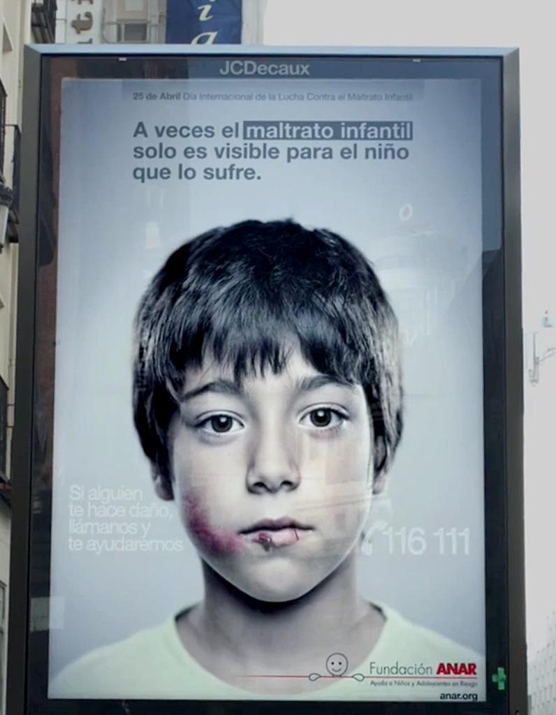 Maltraitance : une pub que seuls les enfants peuvent voir ...